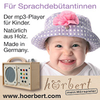 hörbert - hochwertiger mp3-Player für Kinder aus Holz