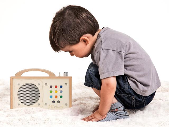 mp3-player für kinder: hörbert macht musik zum kinderspiel
