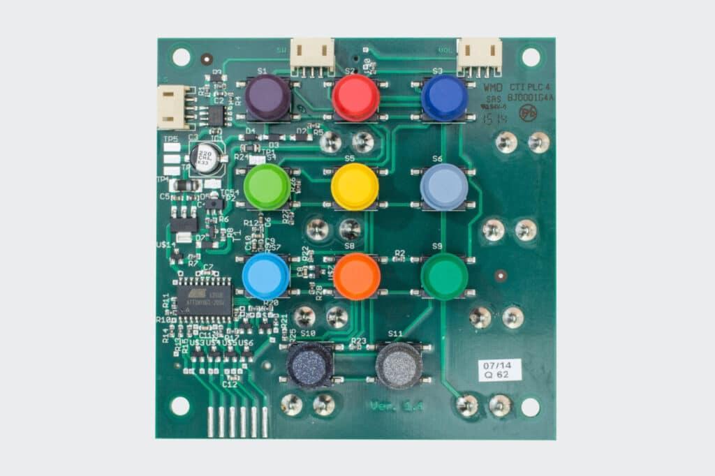 Tastenseite der hörbert-Elektronik