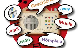 Eigene Kinderlieder und Geschichten kinderleicht auf dem hörbert aufspielen
