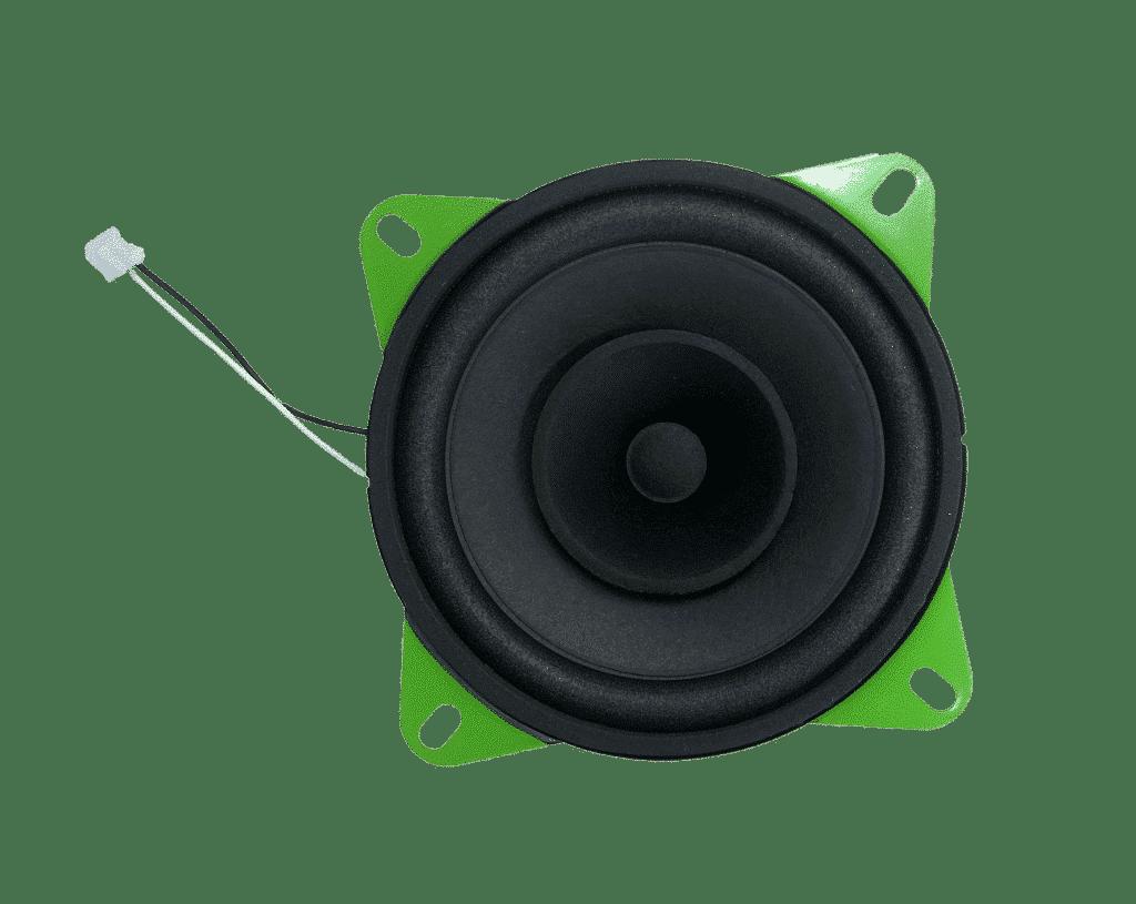 Grüner Visaton-Lautsprecher in der hörbert-Edition