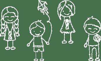 Illustration: Strichzeichnung von Kindern