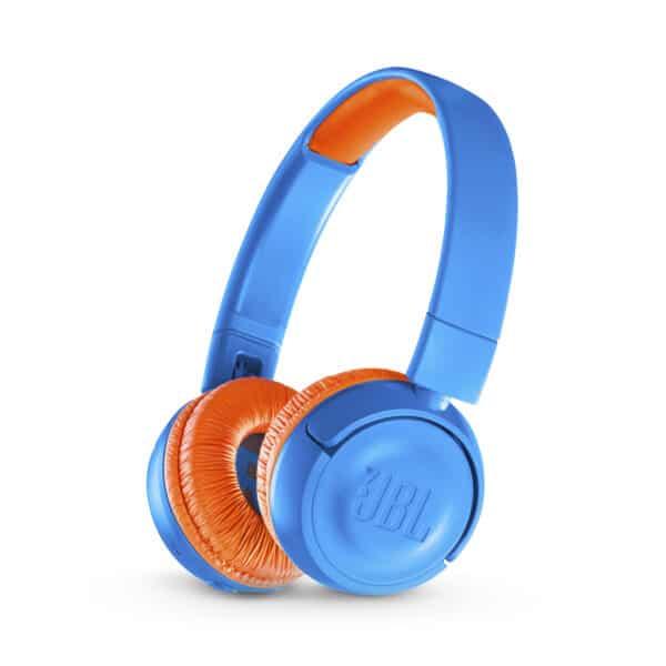 JBL JR300BT Bluetooth Kopfhörer für Kinder - Blau-Orange